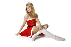 Pretty santa girl Royalty Free Stock Photo