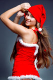 Pretty Santa girl Royalty Free Stock Photos