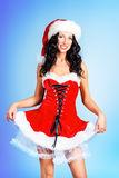 Pretty santa girl Stock Photos