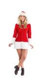 Pretty santa girl smiling at camera Stock Image