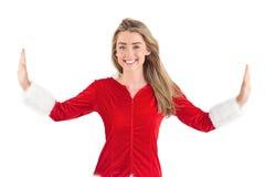 Pretty santa girl smiling at camera Stock Photography