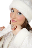 Pretty Santa helper Royalty Free Stock Images