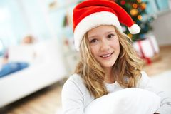 Pretty Santa Stock Photo