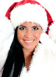 Pretty santa woman portrait Royalty Free Stock Image