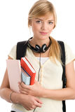Pretty schoolgirl Stock Images