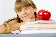 Pretty schoolgirl Stock Images