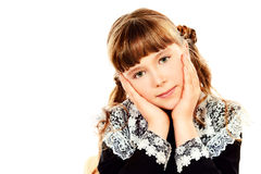 Pretty schoolgirl royalty free stock image