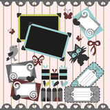 Pretty scrapbook elements Stock Photo