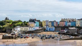 The pretty seaside town of Tenby at low tide Royalty Free Stock Image