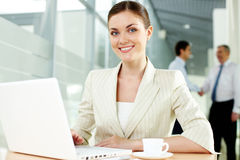 Pretty secretary Stock Photography