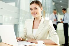 Pretty secretary Stock Images