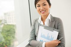Pretty secretary Royalty Free Stock Photo