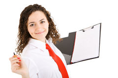 Pretty secretary Royalty Free Stock Images