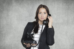 Pretty secretary talking on the phone Royalty Free Stock Photo