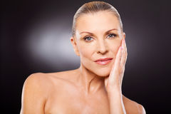 Senior woman beauty Stock Image