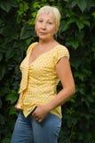 Pretty senior woman Stock Image