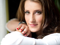 Pretty, sensual woman Royalty Free Stock Photography