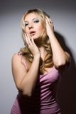 Pretty sensual young blonde Royalty Free Stock Photos