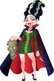Pretty severe madam Frankenstein royalty free stock image