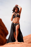 Pretty sexy bellydancer Royalty Free Stock Images