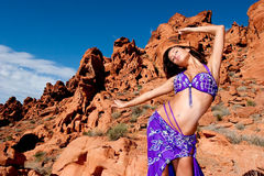 Pretty sexy bellydancer Stock Images