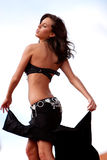 Pretty sexy bellydancer Royalty Free Stock Image