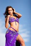 Pretty bellydancer royalty free stock photos