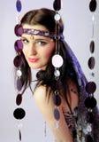 Pretty fashion woman in hippy style Stock Photos