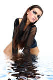 Pretty girl in water Royalty Free Stock Images