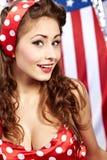 Pretty sexy pin-up girl Stock Photos