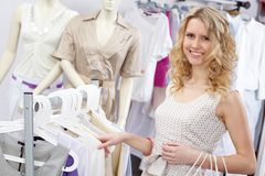 Pretty shopper Royalty Free Stock Images