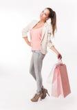 Pretty shopper. Royalty Free Stock Image