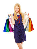 Pretty shopping girl Stock Photography