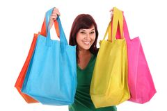 Pretty Shopping Girl Royalty Free Stock Images