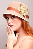 Pretty shy woman Royalty Free Stock Images