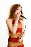 Pretty singer. Royalty Free Stock Images