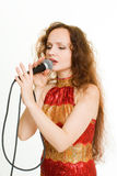 Pretty singer. Stock Image