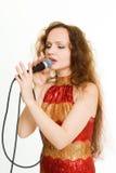 Pretty singer. Stock Image