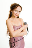 Pretty singer. Stock Images