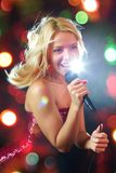 Pretty singer Royalty Free Stock Photography