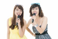 Pretty singers Stock Photo