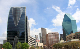 Pretty skyline of downtown Dallas Stock Photo