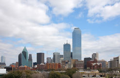 Pretty skyline of Dallas royalty free stock photo
