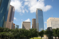 Pretty skyscrapers of Houston Royalty Free Stock Images