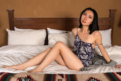 Pretty slender Chinese woman Stock Images