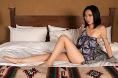 Pretty slender Chinese woman Royalty Free Stock Photo