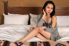 Pretty slender Chinese woman Royalty Free Stock Photography
