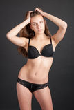 Pretty slim graceful girl in lingerie Royalty Free Stock Image
