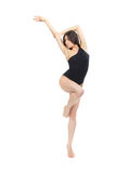 Pretty slim jazz modern contemporary style woman ballet dancer Stock Photos