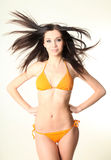 Pretty slim woman wearing swimsuit Royalty Free Stock Image